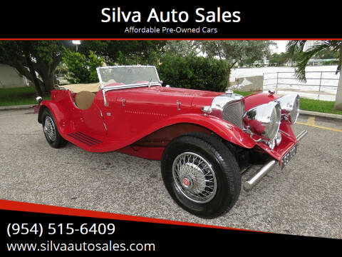 1937 Jaguar SS-100 for sale at Silva Auto Sales in Pompano Beach FL