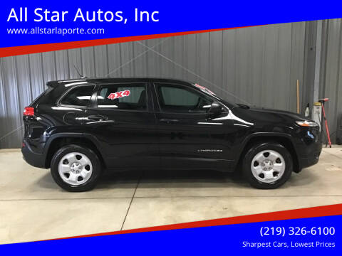 2015 Jeep Cherokee for sale at All Star Autos, Inc in La Porte IN