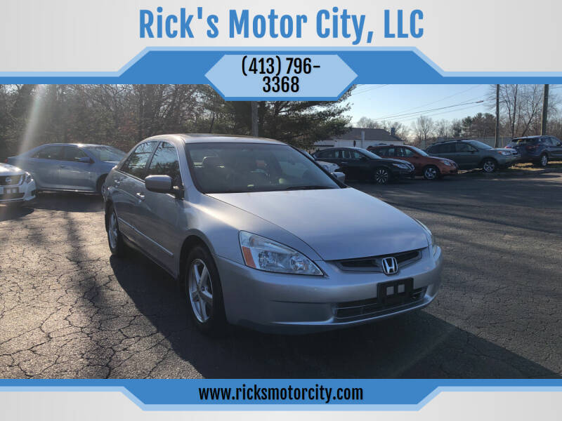 2003 Honda Accord for sale at Rick's Motor City, LLC in Springfield MA