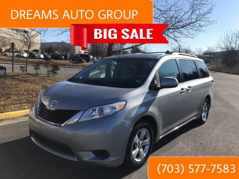 2011 Toyota Sienna for sale at Dreams Auto Group LLC in Sterling VA