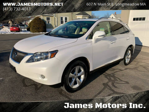 2010 Lexus RX 350 for sale at James Motors Inc. in East Longmeadow MA