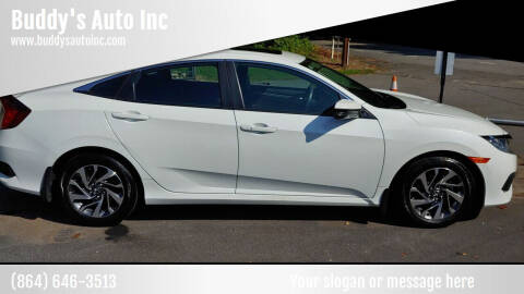 2017 Honda Civic for sale at Buddy's Auto Inc in Pendleton SC