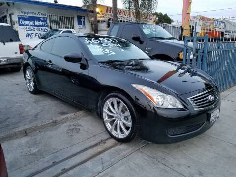 2008 Infiniti G37 for sale at Olympic Motors in Los Angeles CA