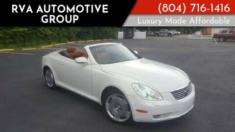 2002 Lexus SC 430 for sale at RVA Automotive Group in North Chesterfield VA