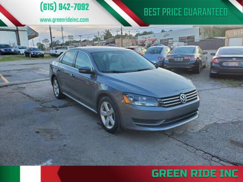 2014 Volkswagen Passat for sale at Green Ride Inc in Nashville TN