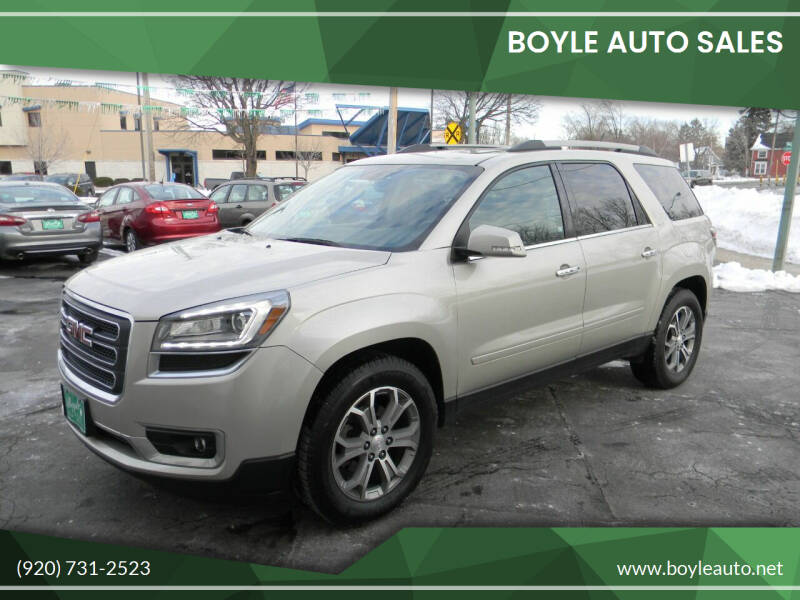 2014 GMC Acadia for sale at Boyle Auto Sales in Appleton WI
