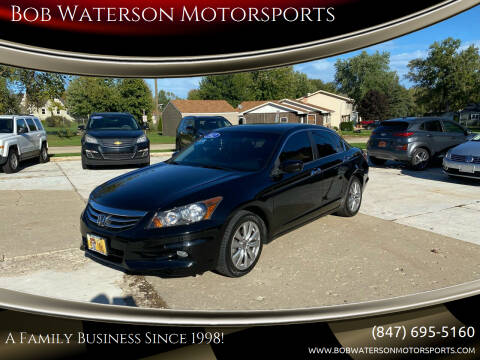 2012 Honda Accord for sale at Bob Waterson Motorsports in South Elgin IL