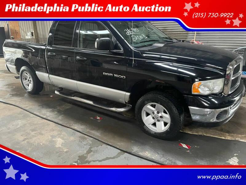2003 Dodge Ram Pickup 1500 for sale at Philadelphia Public Auto Auction in Philadelphia PA