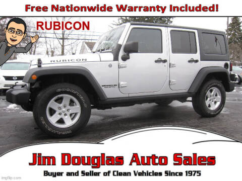 2012 Jeep Wrangler Unlimited for sale at Jim Douglas Auto Sales in Pontiac MI