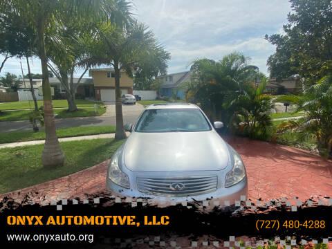 2007 Infiniti G35 for sale at ONYX AUTOMOTIVE, LLC in Largo FL