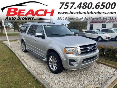 2016 Ford Expedition EL for sale at Beach Auto Brokers in Norfolk VA