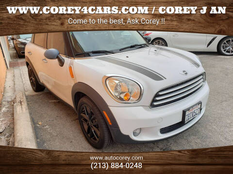 2013 MINI Countryman for sale at WWW.COREY4CARS.COM / COREY J AN in Los Angeles CA
