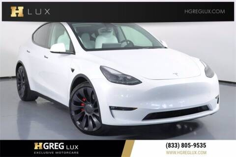 2021 Tesla Model Y for sale at HGREG LUX EXCLUSIVE MOTORCARS in Pompano Beach FL