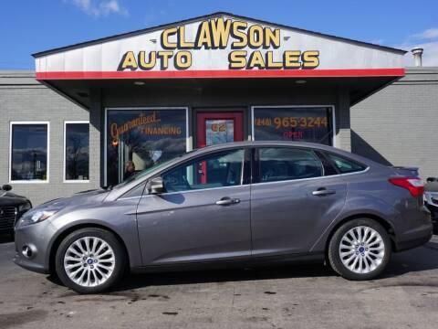 2012 Ford Focus for sale at Clawson Auto Sales in Clawson MI