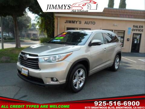 2014 Toyota Highlander for sale at JIMMY'S AUTO WHOLESALE in Brentwood CA