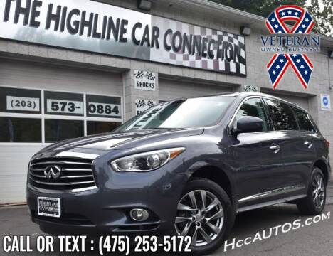2013 Infiniti JX35 for sale at The Highline Car Connection in Waterbury CT