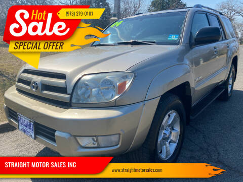 2004 Toyota 4Runner for sale at STRAIGHT MOTOR SALES INC in Paterson NJ