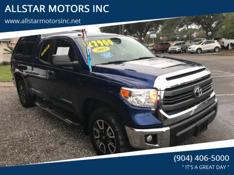 2015 Toyota Tundra for sale at ALLSTAR MOTORS INC in Middleburg FL