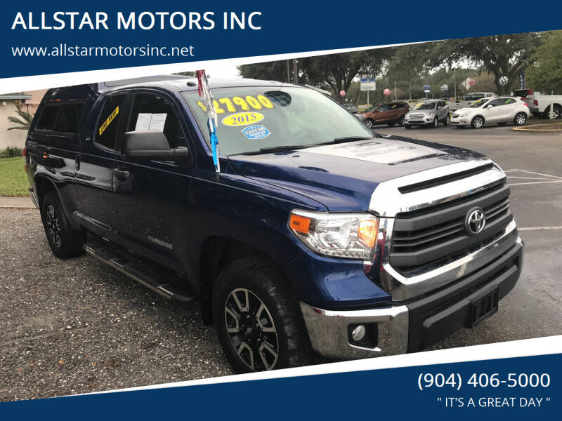 2015 Toyota Tundra for sale at ALLSTAR MOTORS INC in Middleburg FL