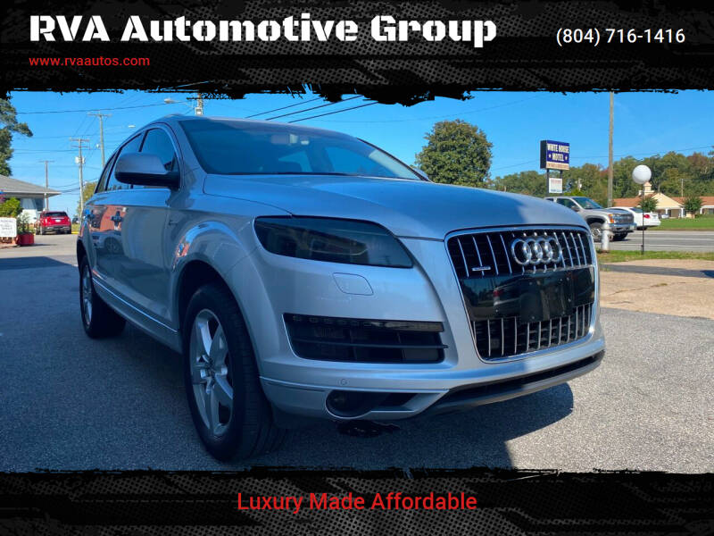 2015 Audi Q7 for sale at RVA Automotive Group in North Chesterfield VA