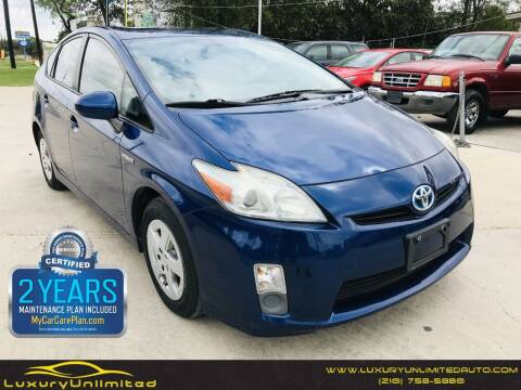 2011 Toyota Prius for sale at LUXURY UNLIMITED AUTO SALES in San Antonio TX