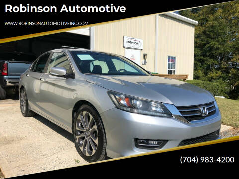 2013 Honda Accord for sale at Robinson Automotive in Albermarle NC