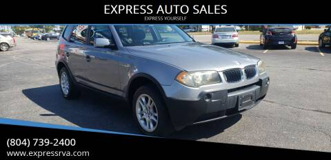2004 BMW X3 for sale at EXPRESS AUTO SALES in Midlothian VA