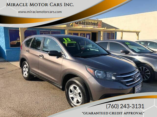 2013 Honda CR-V for sale at Miracle Motor Cars Inc. in Victorville CA