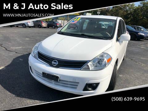 2012 Nissan Versa for sale at M & J Auto Sales in Attleboro MA