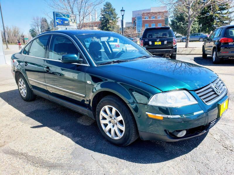 2002 Volkswagen Passat for sale at J & M PRECISION AUTOMOTIVE, INC in Fort Collins CO