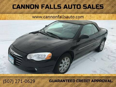 2005 Chrysler Sebring for sale at Cannon Falls Auto Sales in Cannon Falls MN