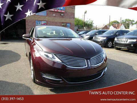 2013 Lincoln MKZ for sale at Twin's Auto Center Inc. in Detroit MI