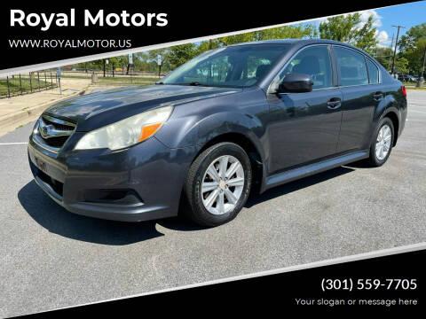 2011 Subaru Legacy for sale at Royal Motors in Hyattsville MD