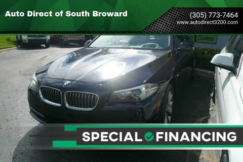 2016 BMW 5 Series for sale at Auto Direct of South Broward in Miramar FL