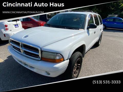2003 Dodge Durango for sale at Cincinnati Auto Haus in Cincinnati OH
