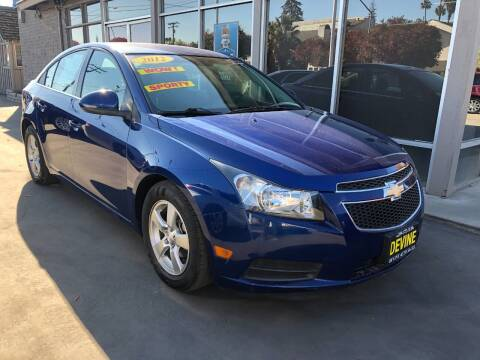 2012 Chevrolet Cruze for sale at Devine Auto Sales in Modesto CA