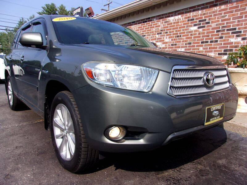 2010 Toyota Highlander Hybrid for sale at Certified Motorcars LLC in Franklin NH
