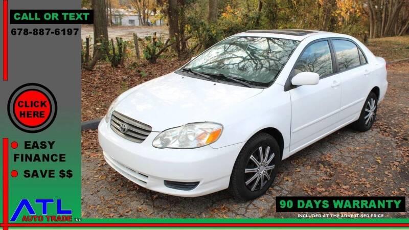 2003 Toyota Corolla for sale at ATL Auto Trade, Inc. in Stone Mountain GA