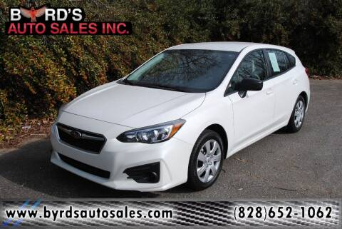 2018 Subaru Impreza for sale at Byrds Auto Sales in Marion NC