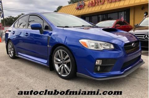 2016 Subaru WRX for sale at AUTO CLUB OF MIAMI, INC in Miami FL