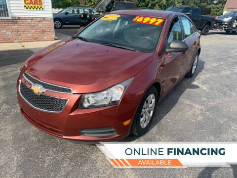 2012 Chevrolet Cruze for sale at Excel Auto Sales LLC in Kawkawlin MI