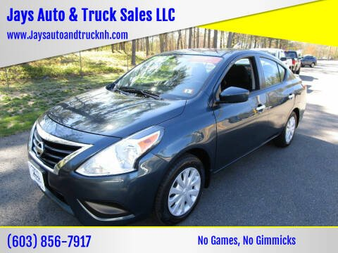 2017 Nissan Versa for sale at Jays Auto & Truck Sales LLC in Loudon NH