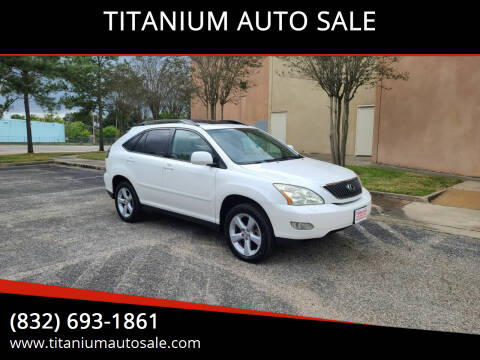 2007 Lexus RX 350 for sale at TITANIUM AUTO SALE in Houston TX