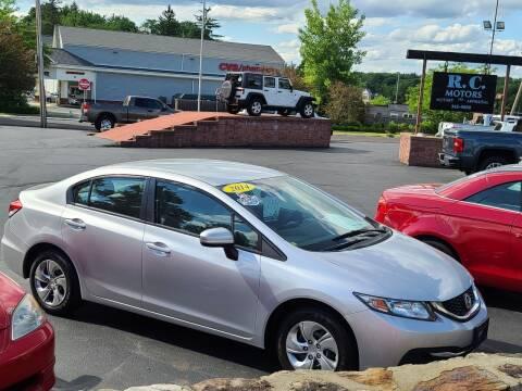2014 Honda Civic for sale at R C Motors in Lunenburg MA