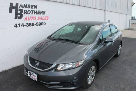 2013 Honda Civic for sale at HANSEN BROTHERS AUTO SALES in Milwaukee WI