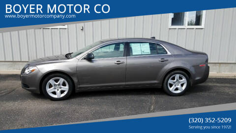2012 Chevrolet Malibu for sale at BOYER MOTOR CO in Sauk Centre MN