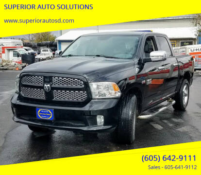 2014 RAM Ram Pickup 1500 for sale at SUPERIOR AUTO SOLUTIONS in Spearfish SD