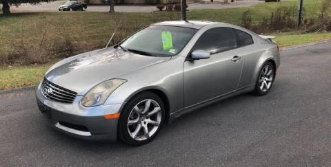 2004 Infiniti G35 for sale at Augusta Auto Sales in Waynesboro VA