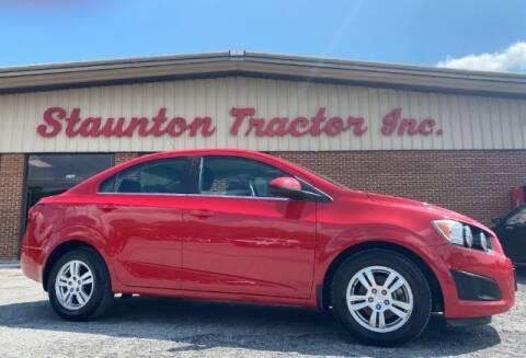 2013 Chevrolet Sonic for sale at STAUNTON TRACTOR INC in Staunton VA