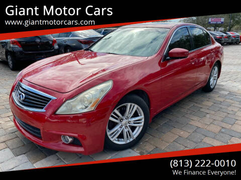 2010 Infiniti G37 Sedan for sale at Giant Motor Cars in Tampa FL